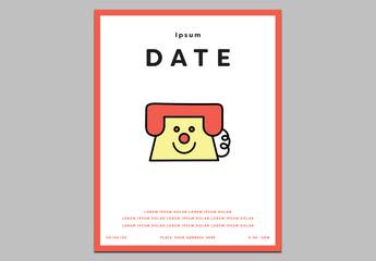 Cartoon Telephone Poster Layout
