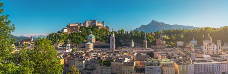 Photo sur Aluminium Bleu jean Salzburg Panorama