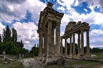 column,afrodisias,ancient city