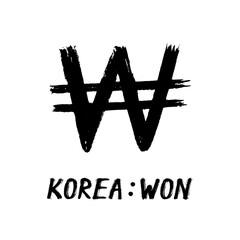 Currency - Grunge - Won