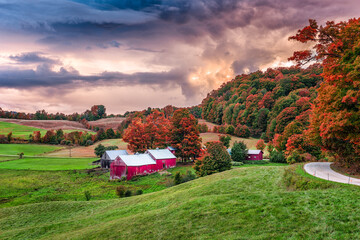 Vermont, USA Rural Autumn Farms