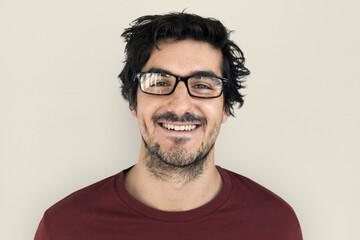 Man Cheerful Smiling Portrait Concept Fototapete