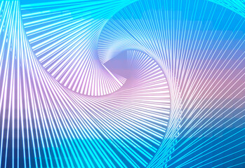 Blue shades pink glowing spiral background