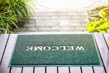 Welcome mat texture background