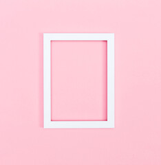 Empty picture frame on a bright background