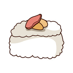 chinese traditional food sushi style vector illustration