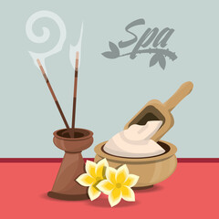 spa products to health care skin vector illustration