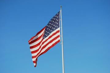 Giant American Flag at Car Dealership