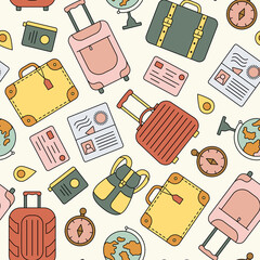 Seamless travel pattern.