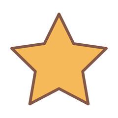 yellow star award element cartoon icon vector illustration