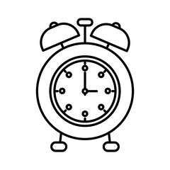 sketch silhouette image alarm clock vector illustration