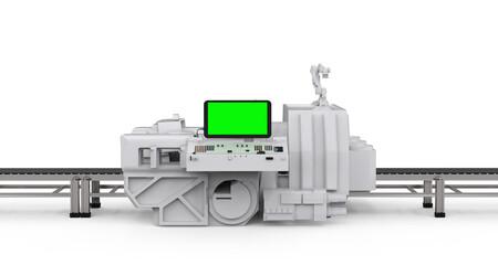 scanner machine with empty conveyor belt
