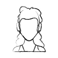 Anonymous faceless woman icon vector illustration graphic design