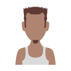 Man faceless avatar icon vector illustration graphic design