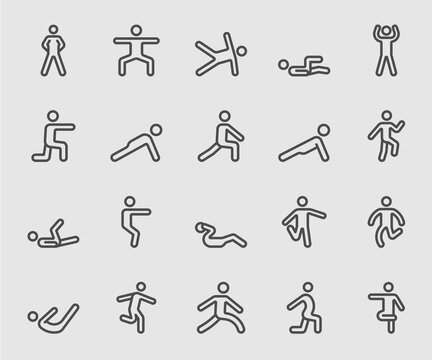 Exercise for Health line icon
