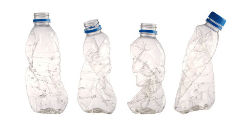 潰されたペットボトル