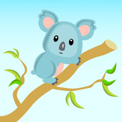 The world of animals. Koala.