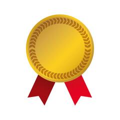 Gold award ribbon icon vector illustration graphic design