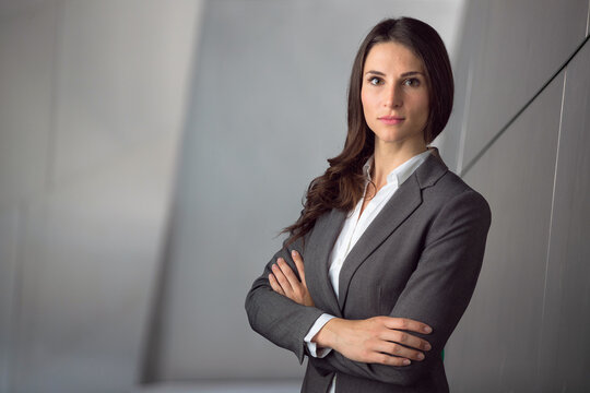 Headshot of big business lawyer working executive professional with strong confident pose
