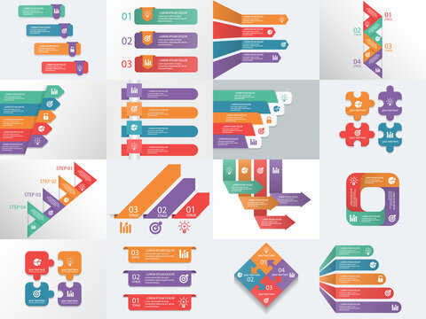 Info graphic Elements process infographics, workflow diagrams, timeline infographics, steps and options, pyramid chart, table, text box, flowchart design elements