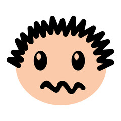 head boy angry expression vector illustration design