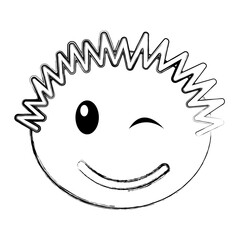 head boy happy expression vector illustration design