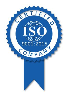 ISO 9001-2015 label certification honor new version
