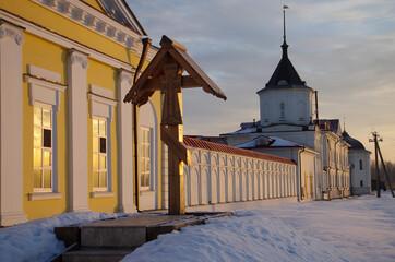 ROSTOV, RUSSIA - January, 2017: Holy Trinity Saint Serguius Varnickiy monastery in Rostov