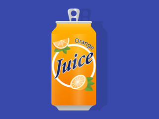 Orange Fruit Juice drink can