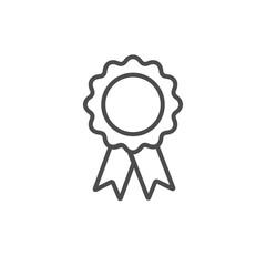 Silhouette award icon isolated on white background