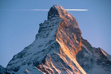 Obraz picturesque mountain Matterhorn at sunset, Switzerland - fototapety do salonu