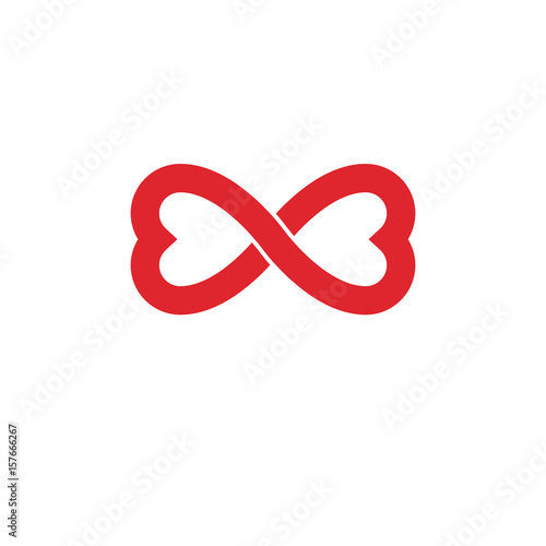 Infinite Love Concept Vector Symbol Created With Infinity Sign And