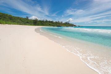 Empty tropical beach background.
