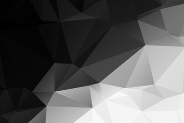 Black and white abstract polygonal background