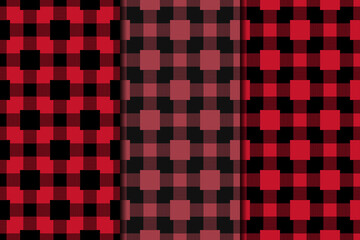 Geometric background. Red seamless wallpaper