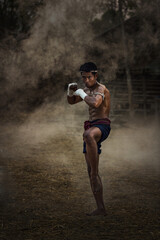 muay thai,Thai boxing vintage style,Thailand