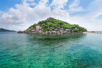 Tropical paradise on the island of  Koh nang yuan in Thailand,