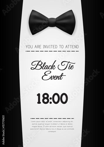 a4 elegant black tie event invitation template stock image and
