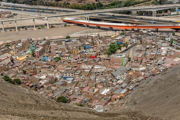 Cerro San Cristobal slum in Lima, Peru