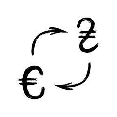 Currency - Grunge - Exchange - Hryvnia and Euro