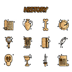 History and culture icons