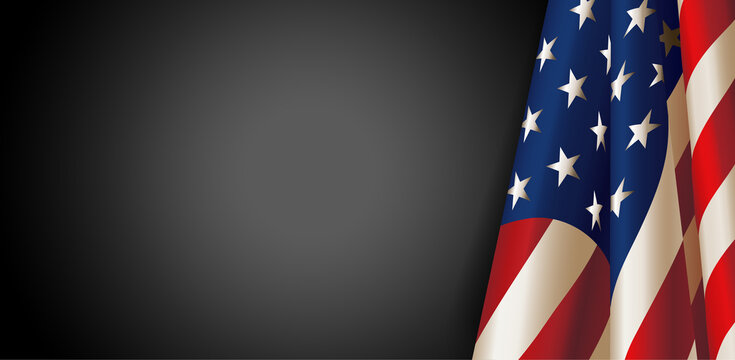 American flag for Memorial Day. Vector