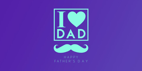 happy fathers day color duo tone background