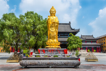 Standing Budda at the Mi Tuo Shi Buddhist Temple in Liaoyuan, North China.