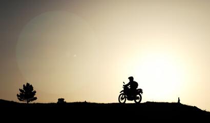 spontane motosiklet gezisi