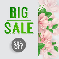 Big sale fifty percent off lettering