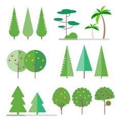 Set trees in flat style