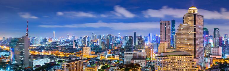 Bangkok Panorama view at night.
