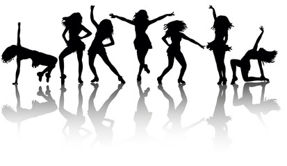 silhouette of a sexy girl dancing big collection