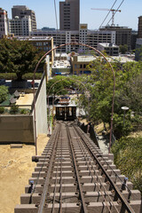 Los Angeles Angels Flight Trolley tracks